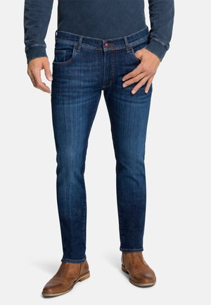 JEANS RYAN - Slim fit jeans - dark blue used buffies