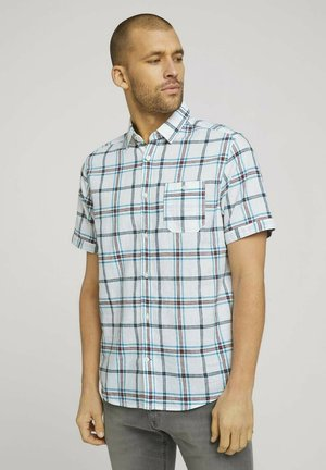 Shirt - off white blue red check