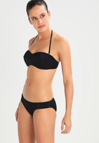 Seafolly - QUILTED HIPSTER - Bikinibroekje - black - 1