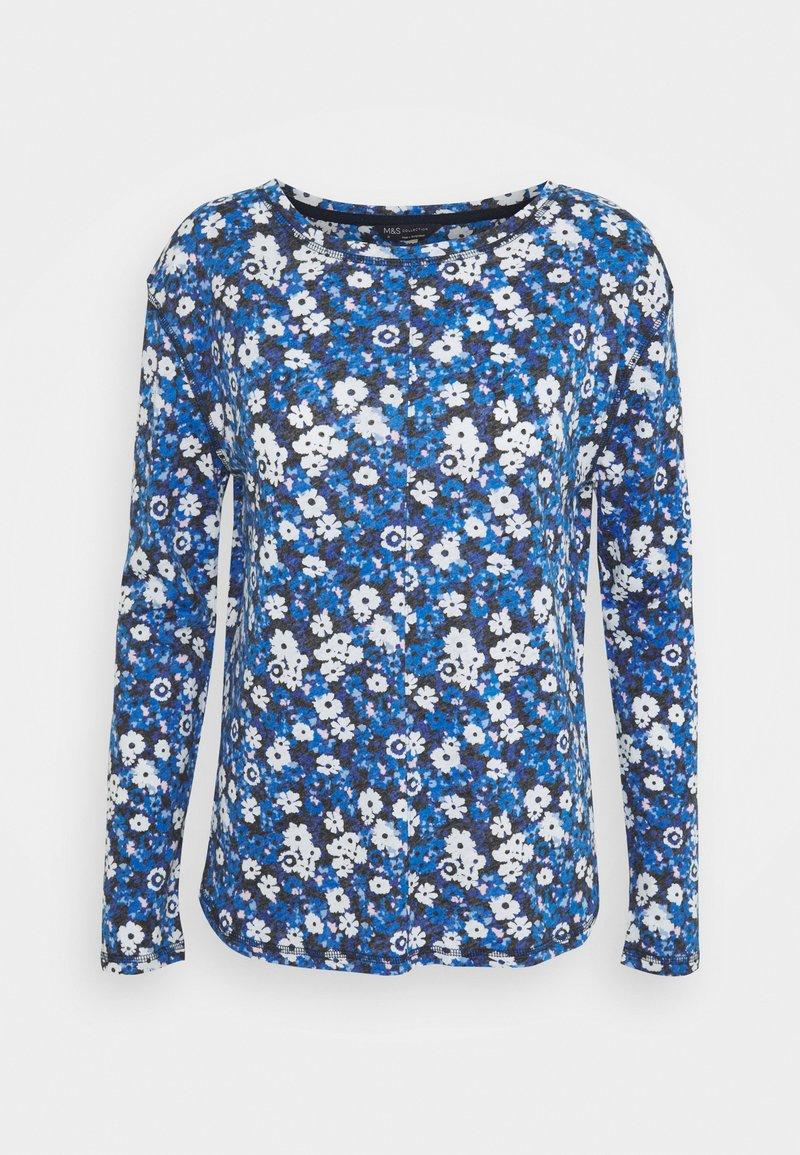 Marks & Spencer London - SLASH - Top sdlouhým rukávem - blue