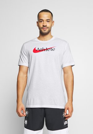 TEE ATHLETE - T-shirt med print - white/university red