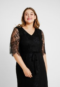 Zizzi - XYANA KNEE DRESS - Cocktail dress / Party dress - black - 4