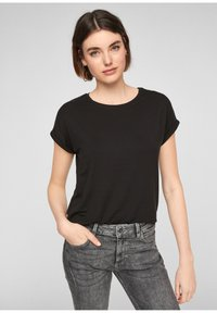 Q/S designed by - Basic T-shirt - black - 0