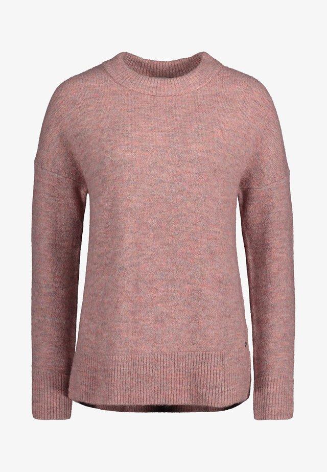 Jumper - dark pink melange