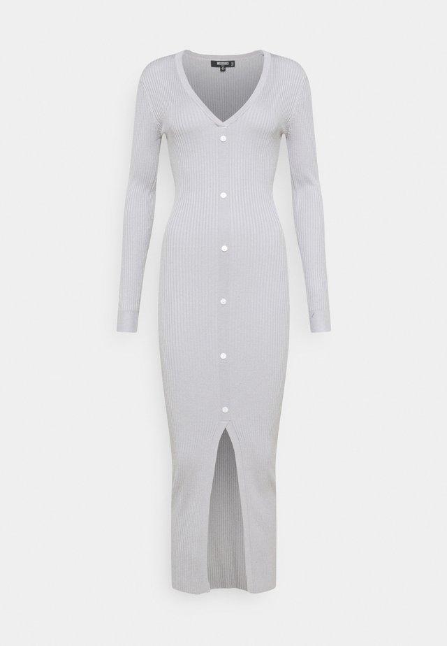 VNECK BUTTON FRONT DRESS - Maxiklänning - grey