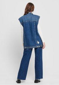 ONLY - Waistcoat - dark blue denim - 2