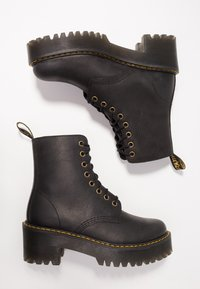 Dr. Martens - SHRIVER HI 8 EYE BOOT - Platform ankle boots - black - 3