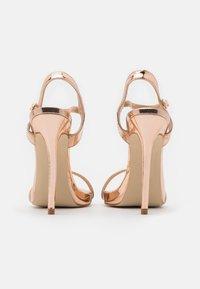 BEBO - SPARRA - Sandaler med høye hæler - rose gold metallic - 3