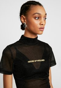 House of Holland - Camiseta estampada - black