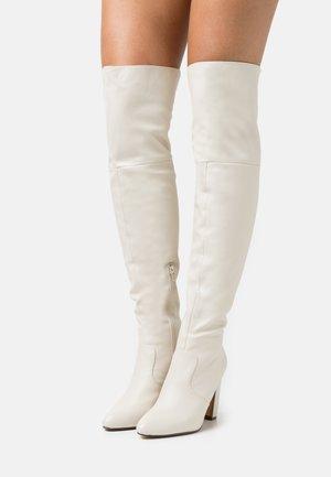 CLOVER - Laarzen met hoge hak - offwhite