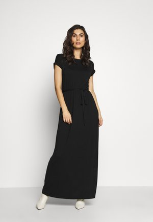 PLAIN ROLL SLEEVE DRESS - Maxi šaty - black