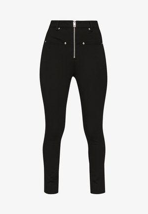 P-GLASSY TROUSERS - Trousers - black