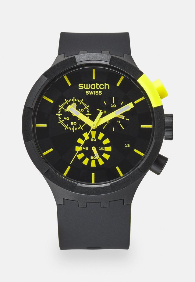 RACING PLEASURE - Montre à aiguilles - black/yellow