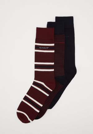 3 PACK MIXED SOCKS - Skarpety - port red
