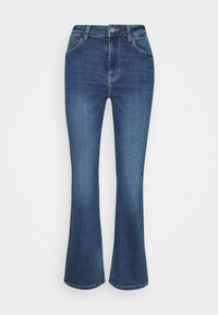 JDYNEWFLORA NEELA LIFE HGH FLARE  - Straight leg jeans - medium blue denim