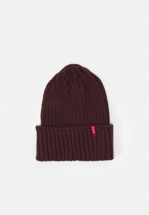 TURN UP BEANIE UNISEX - Berretto - bordeaux