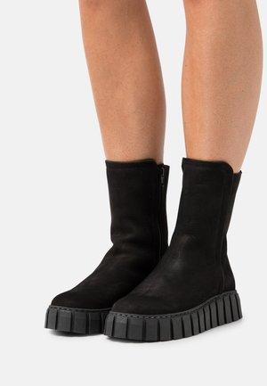 SALOME - Platform ankle boots - black