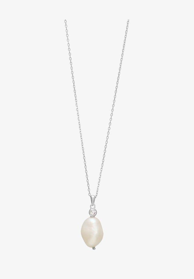 MIT SÜSSWASSERPERLE  - Necklace - silver