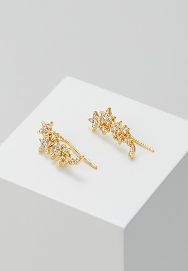 EAR CRAWLERS - Earrings - clear/gold-coloured