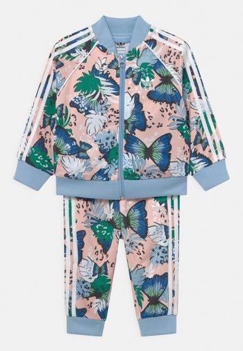 SET - Training jacket - haze coral/multicolor