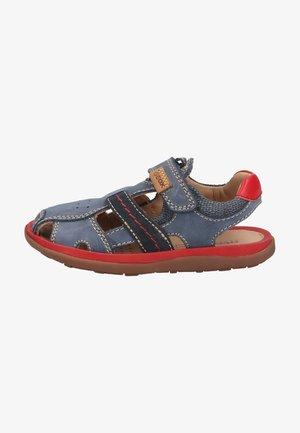 Walking sandals - navy red c