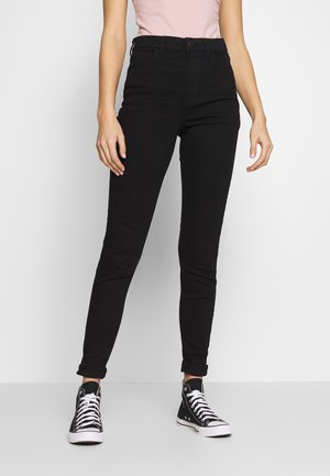 HI-RISE - Jeansy Skinny Fit - true black