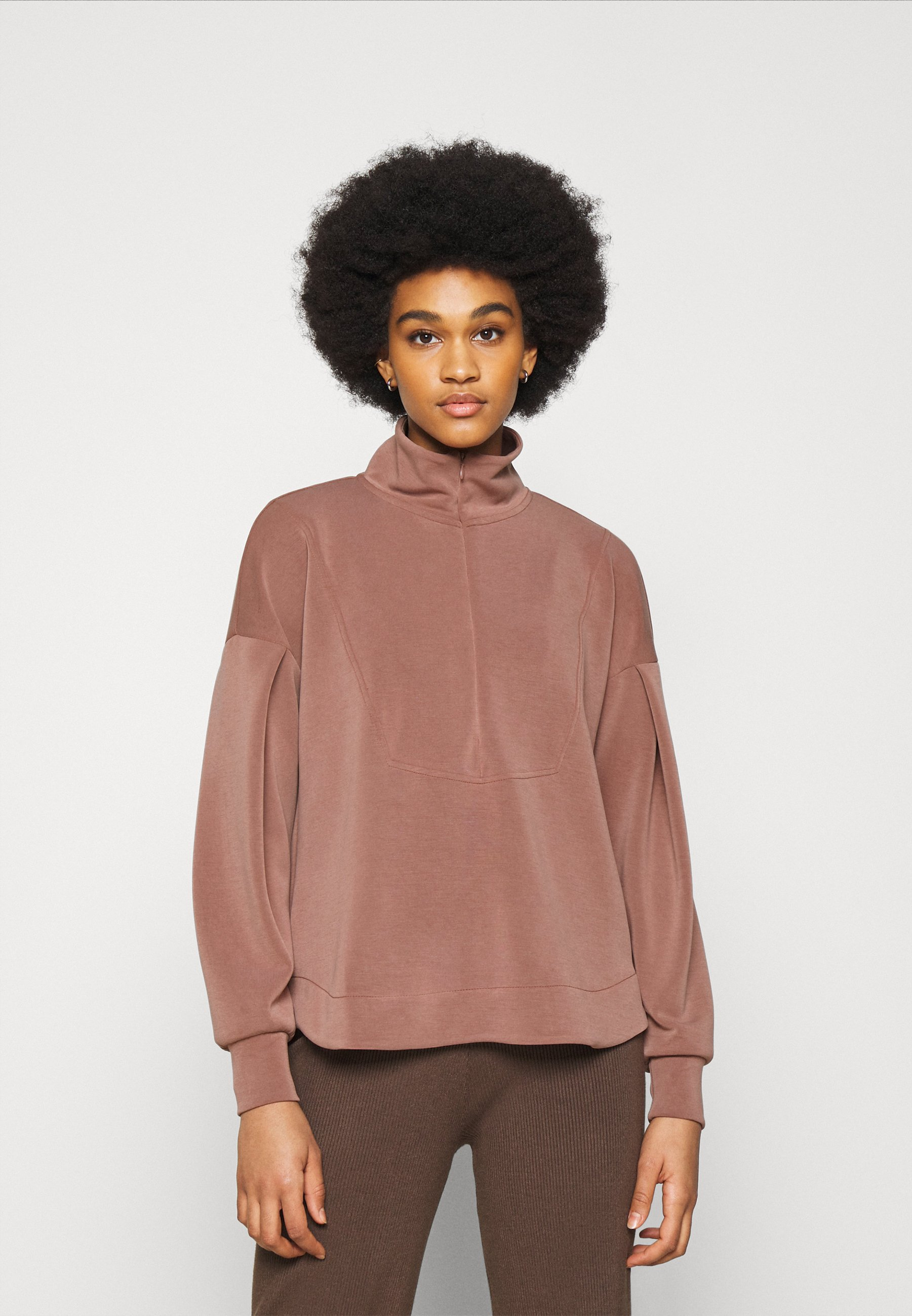 Women YASCOMO LONG ZIP - Sweatshirt