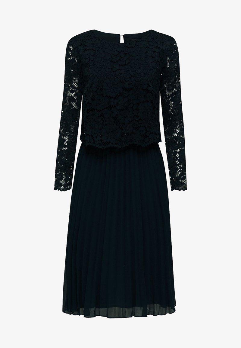 Esprit Collection Mit Plissee Rock Cocktailkleid Festliches Kleid Dark Teal Green Zalando De