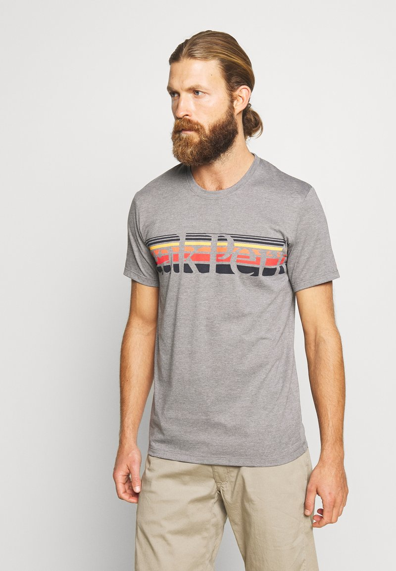 Peak Performance - EXPLORE TEE STRIPE  - Print T-shirt - grey melange