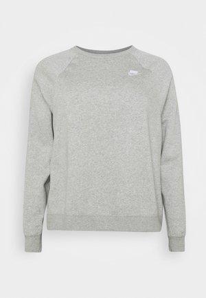 CREW PLUS - Sweatshirt - dark grey heather/matte silver