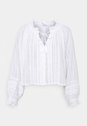 TIE NECK BUBBLE - Blouse - white