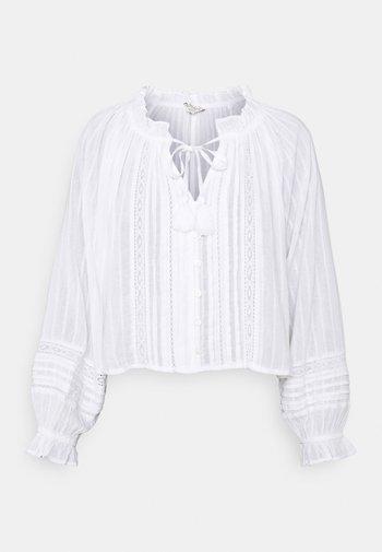 TIE NECK BUBBLE - Bluser - white
