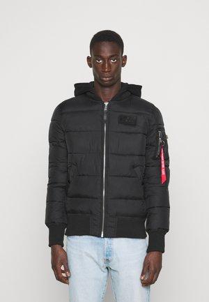 BACK PRINT PUFFER - Zimní bunda - black