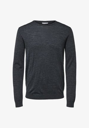 SLHTOWER - Stickad tröja - medium gray melange
