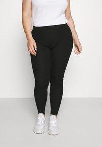 Pieces Curve - PCRIBBI - Leggings - Trousers - black - 0