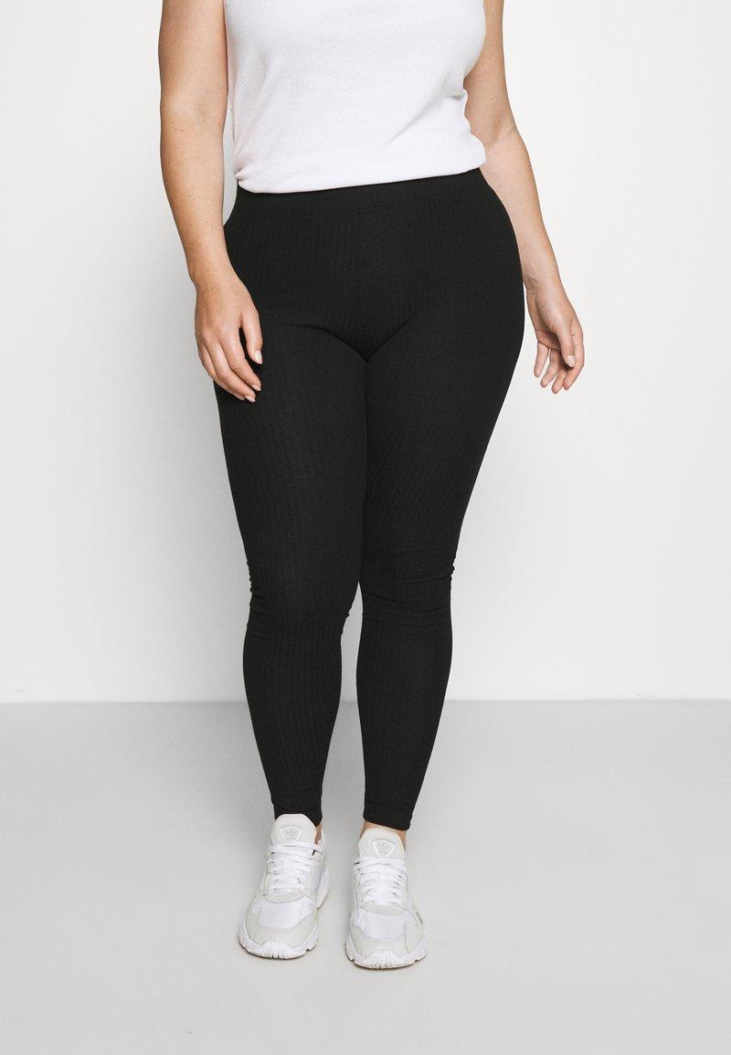 Pieces Curve - PCRIBBI - Leggings - Trousers - black