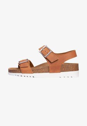 Wedge sandals - braun