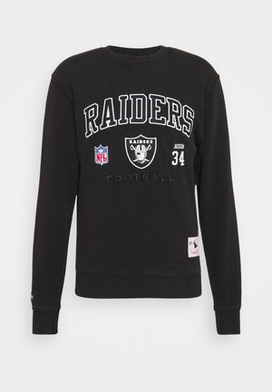 NFL LOS ANGELES RAIDERS OFF SHELF TEAM CREW - Pelipaita - black