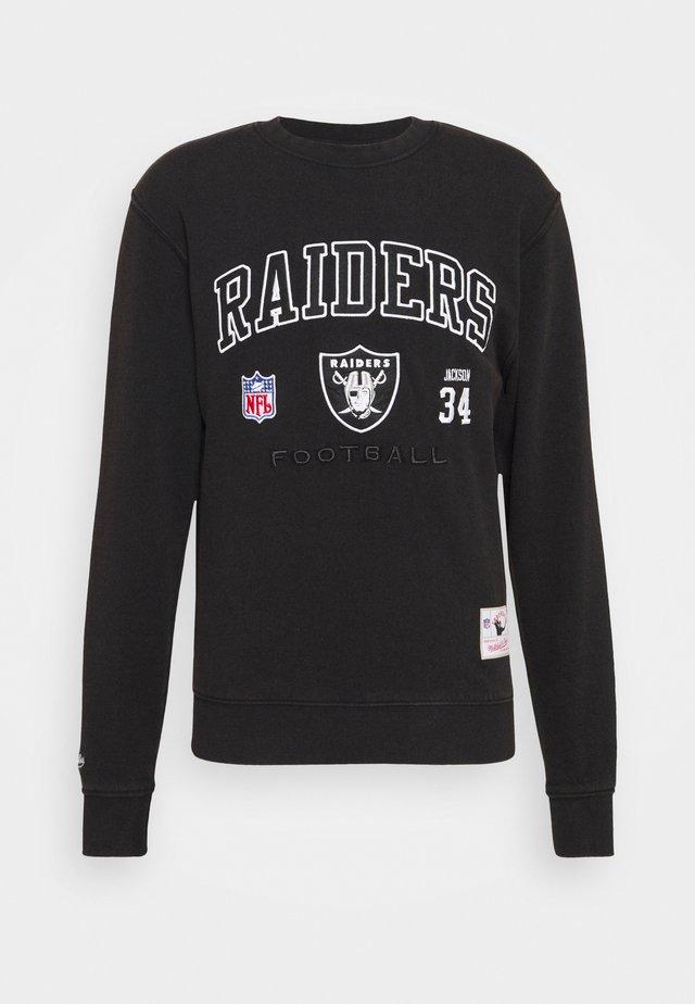 NFL LOS ANGELES RAIDERS OFF SHELF TEAM CREW - Klubtrøjer - black