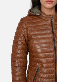 Oakwood - POWER - Leather jacket - cognac color - 3