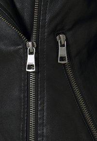 ONLY - ONLMELISA BIKER - Chaqueta de cuero sintético - black - 6