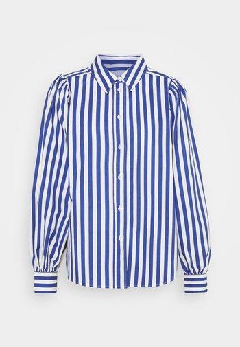 Button-down blouse - deep ultra marine