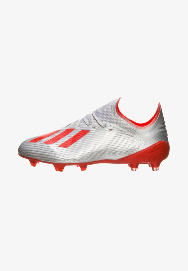 X 19.1 FG FUßBALLSCHUH - Moulded stud football boots - silver metallic/hi-res red/footwear white