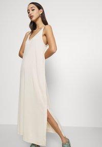 Weekday - ABBY DRESS - Maxi dress - light beige - 4