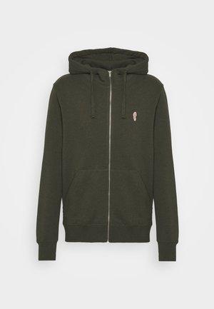 ZIP HOODY - Zip-up hoodie - army