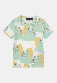 Mini Rodini - UNICORN NOODLES UNISEX - Print T-shirt - green - 0
