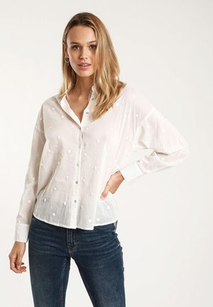 MIT MOTIV - Button-down blouse - white