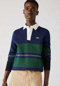 Lacoste - Polo shirt - navy blau / blau / grün / beige / weiß - 0