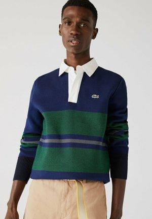 Polo shirt - navy blau / blau / grün / beige / weiß