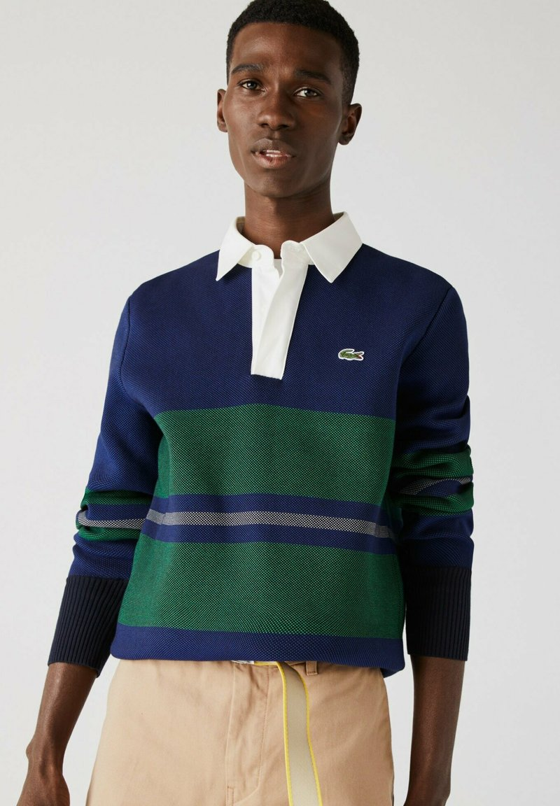 Lacoste - Polo shirt - navy blau / blau / grün / beige / weiß